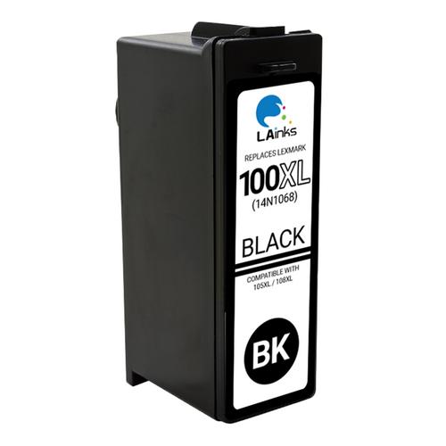 LAinks Replacement for Lexmark #100XL 14N1068 High Yield Black Ink Cartridge LEX_100XL-B