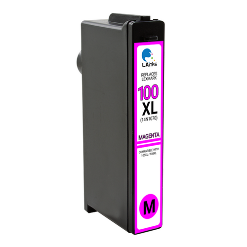 LAinks Replacement for Lexmark #100XL 14N1070 High Yield Magenta Ink Cartridge LEX_100XL-M