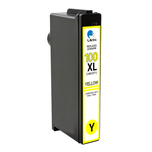 LAinks Replacement for Lexmark #100XL 14N1071 High Yield Yellow Ink Cartridge LEX_100XL-Y