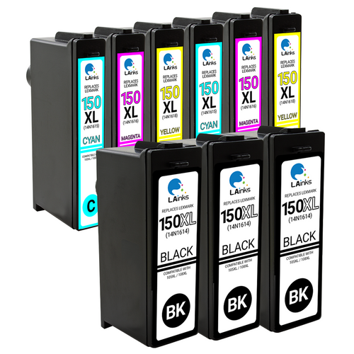 LAinks Replacement for Lexmark #150XL High Yield Ink Cartridges 9PK 3B, 2ea CMY Combo LEX_150XL-9PK