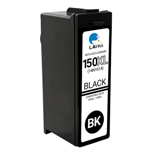 LAinks Replacement for Lexmark #150XL 14N1614 High Yield Black Ink Cartridge LEX_150XL-B