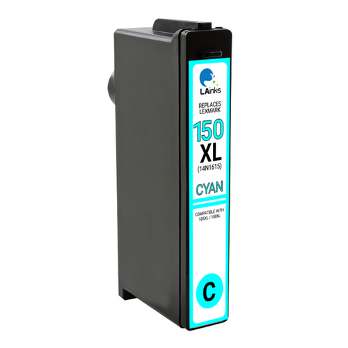 LAinks Replacement for Lexmark #150XL 14N1615 High Yield Cyan Ink Cartridge LEX_150XL-C