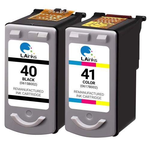 LAinks Replacement for Canon PG40 and CL-41 Ink Cartridges 2PK - 1 Black, 1 Color CANON_1-PG40_1-CL41-2PK