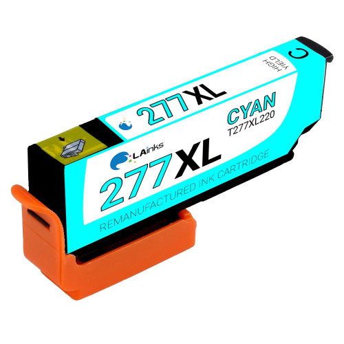 LAinks Replacement for Epson 277XL T277XL220 High Yield Cyan Ink Cartridge EPSON_T277XL-C