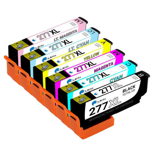 LAinks Replacement for Epson 277XL High Yield Ink Cartridges 6PK - 1 Black, 1 Cyan, 1 Magenta, 1 Yellow, 1 Light Cyan, 1 Light Magenta EPSON_T277XL-6PK