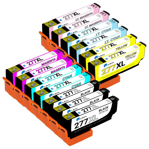 LAinks Replacement for Epson 277XL High Yield Ink Cartridges 13PK - 3 Black, 2 Cyan, 2 Magenta, 2 Yellow, 2 Light Cyan, 2 Light Magenta EPSON_T277XL-13PK
