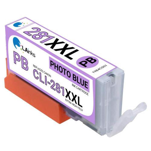 LAinks Replacement for Canon CLI-281XXL 1984C001 High Yield Photo Blue Ink Cartridge CANON_CLI-281XXL-PB