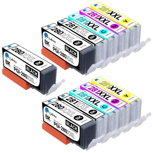 LAinks Replacement for Canon Ink Cartridges 11PK - 3 PGI280XXL and CLI281XXL - 2 Black, 2 Cyan, 2 Magenta, 2 Yellow CANON_PGI280XXLandCLI281XXL-11PK