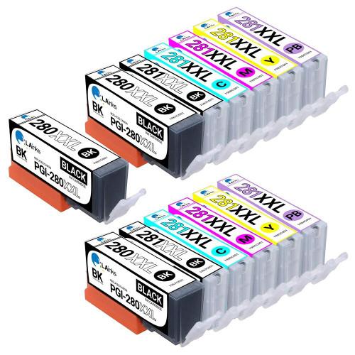 LAinks Replacement for Canon Ink Cartridges 13PK - 3 PGI280XXL and CLI281XXL - 2 Black, 2 Cyan, 2 Magenta, 2 Yellow, 2 Photo Blue CANON_PGI280XXLandCLI281XXL-13PK