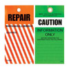 Lockout Tag Tear Proof Double Sided PSP103TP - Caution Repair