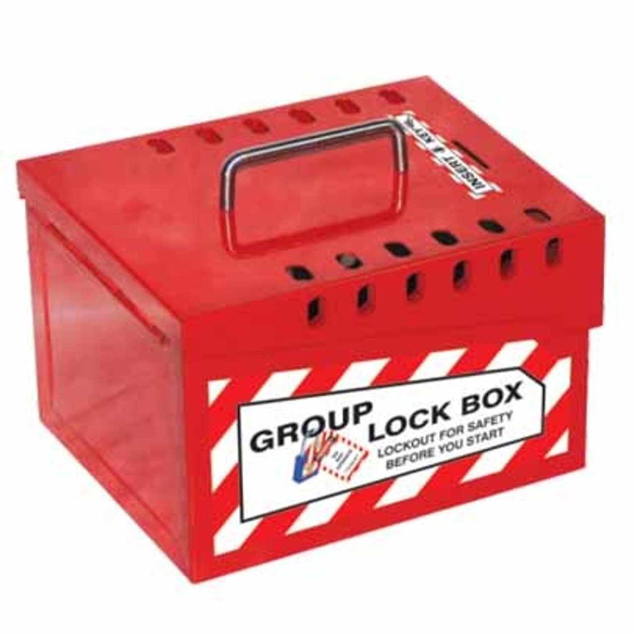 Group Lock Box - Red 13 - L - PS-LOTO-GLBR5