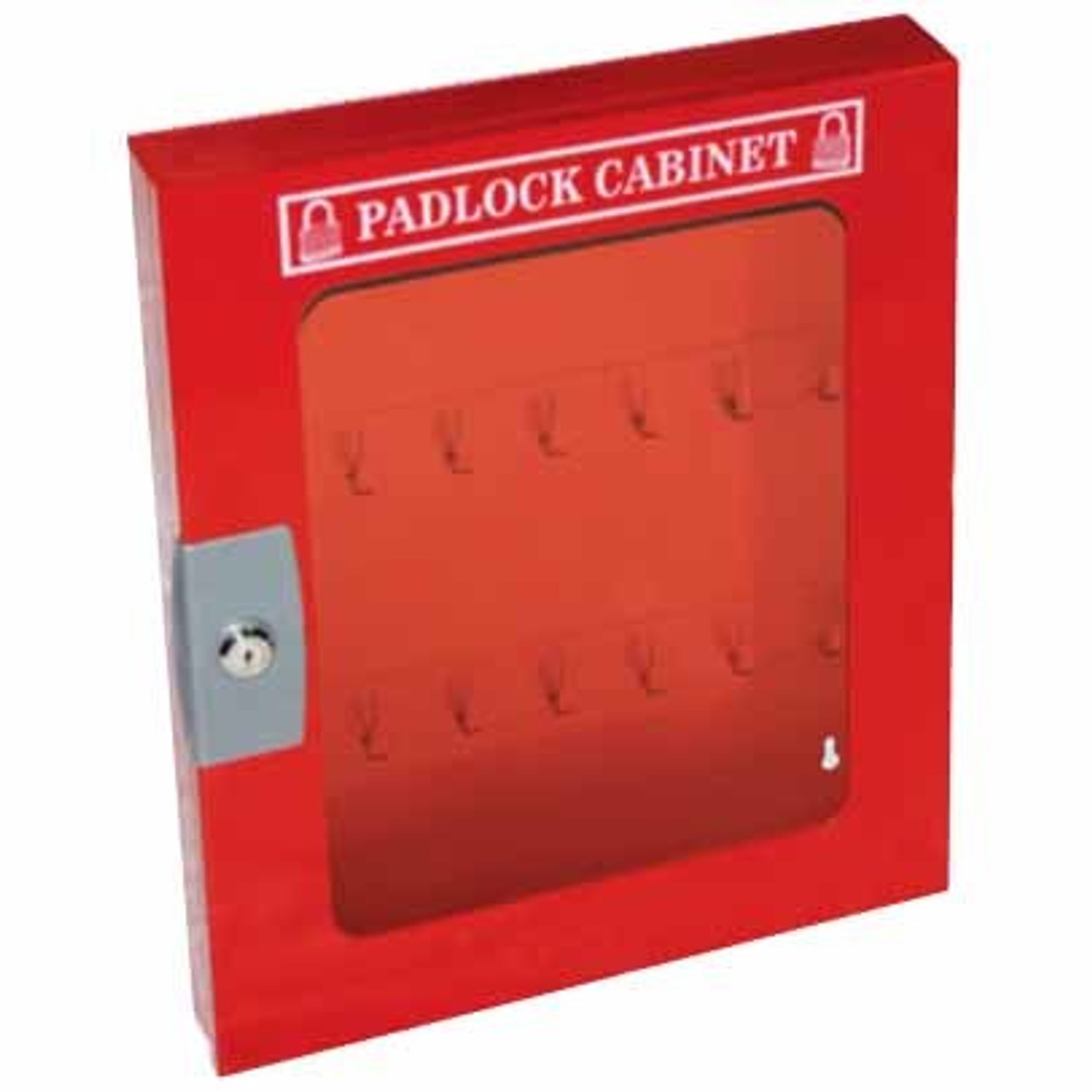 Padlock Cabinet with Clear Fascia