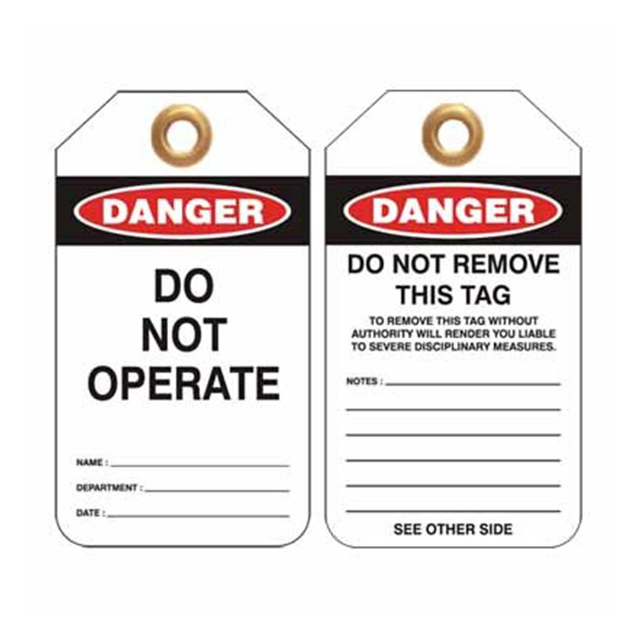 Lockout Tag Do Not Operate
