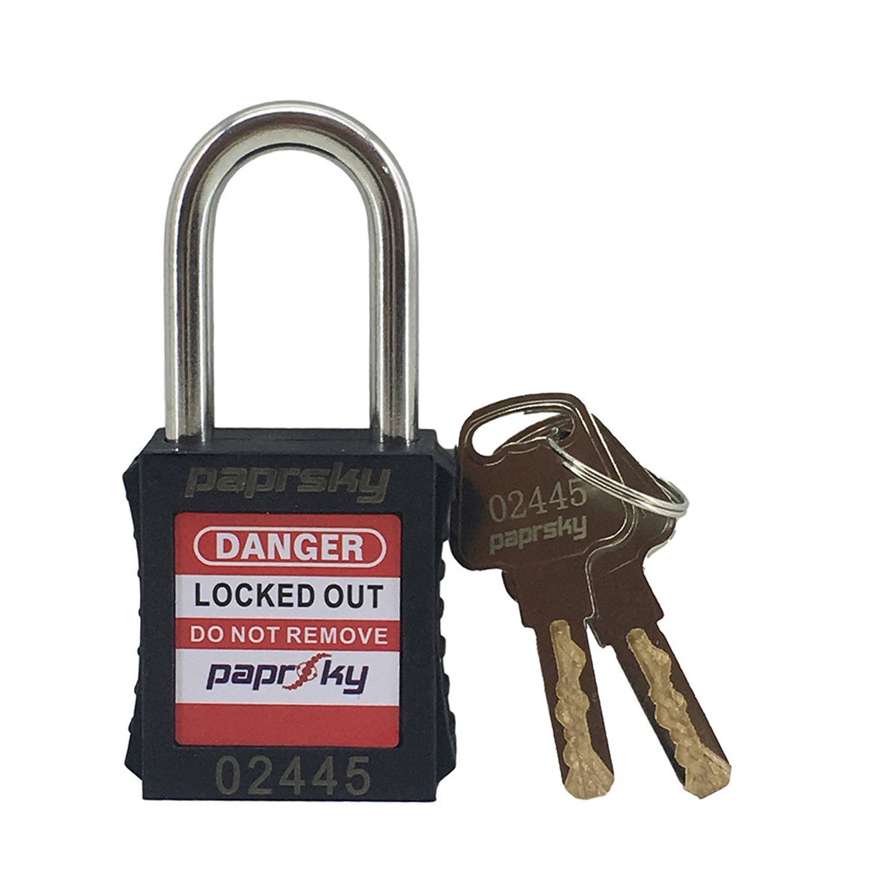 Lockout Padlock Black locks PS-LOTO-PPR-38