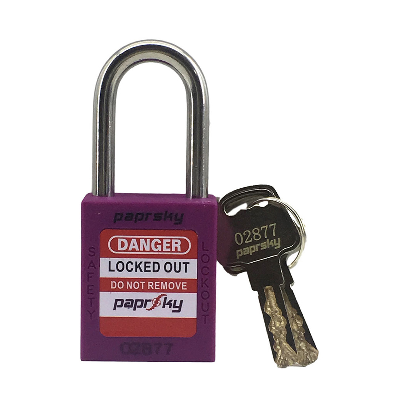 Lockout Padlock Purple Short Shackle PS-LOTO-PPR-38