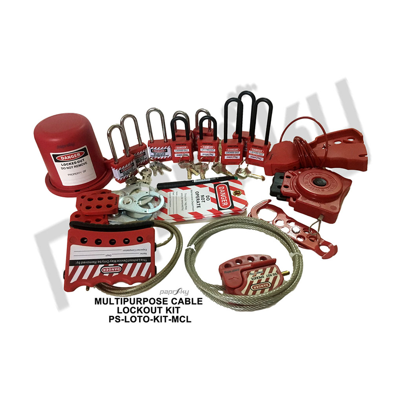 Multipurpose Cable Lockout Kit  PS-LOTO-KIT-MCL