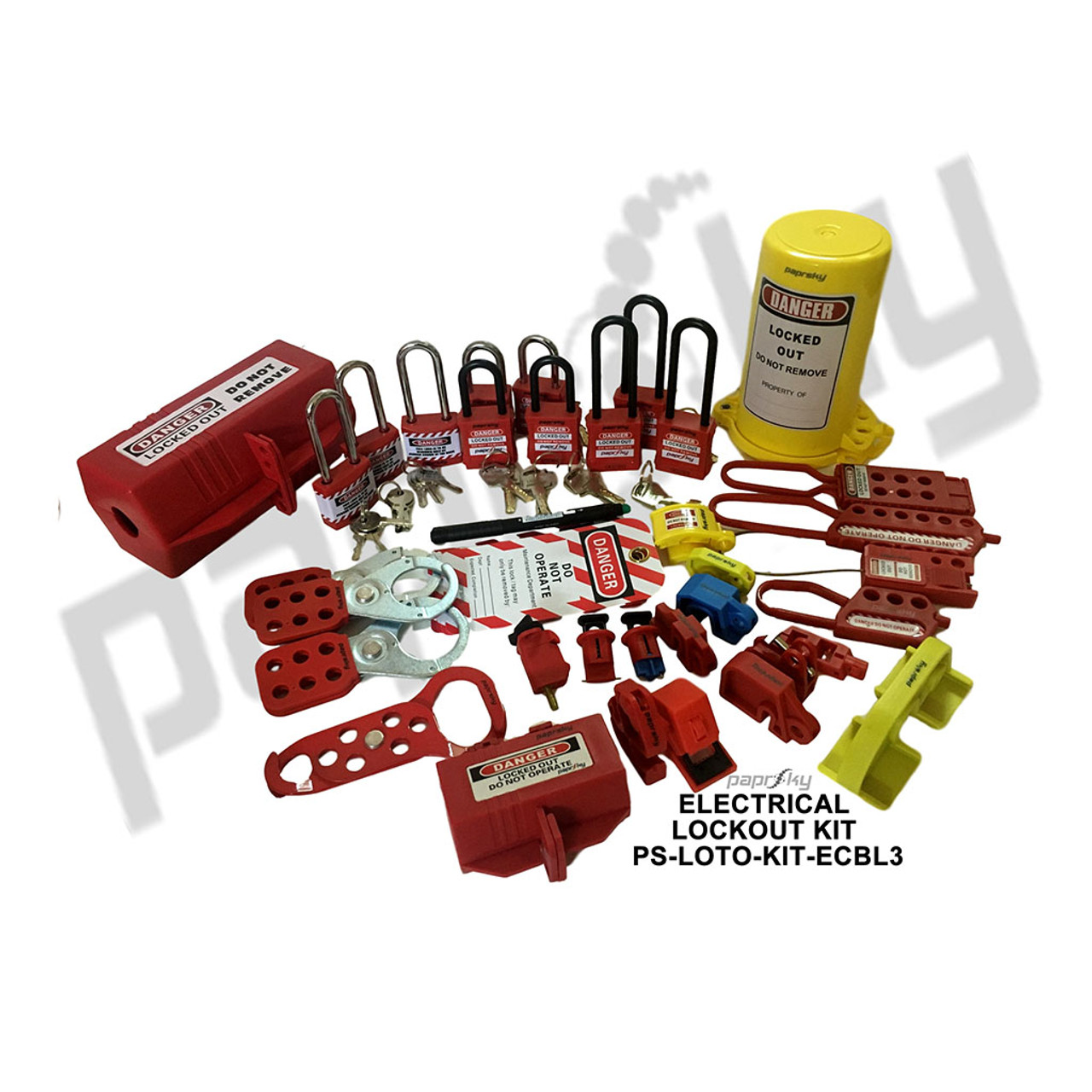 Electrical Plug & Circuit Breaker Lockout Kit PS-LOTO-KIT-ECBL3