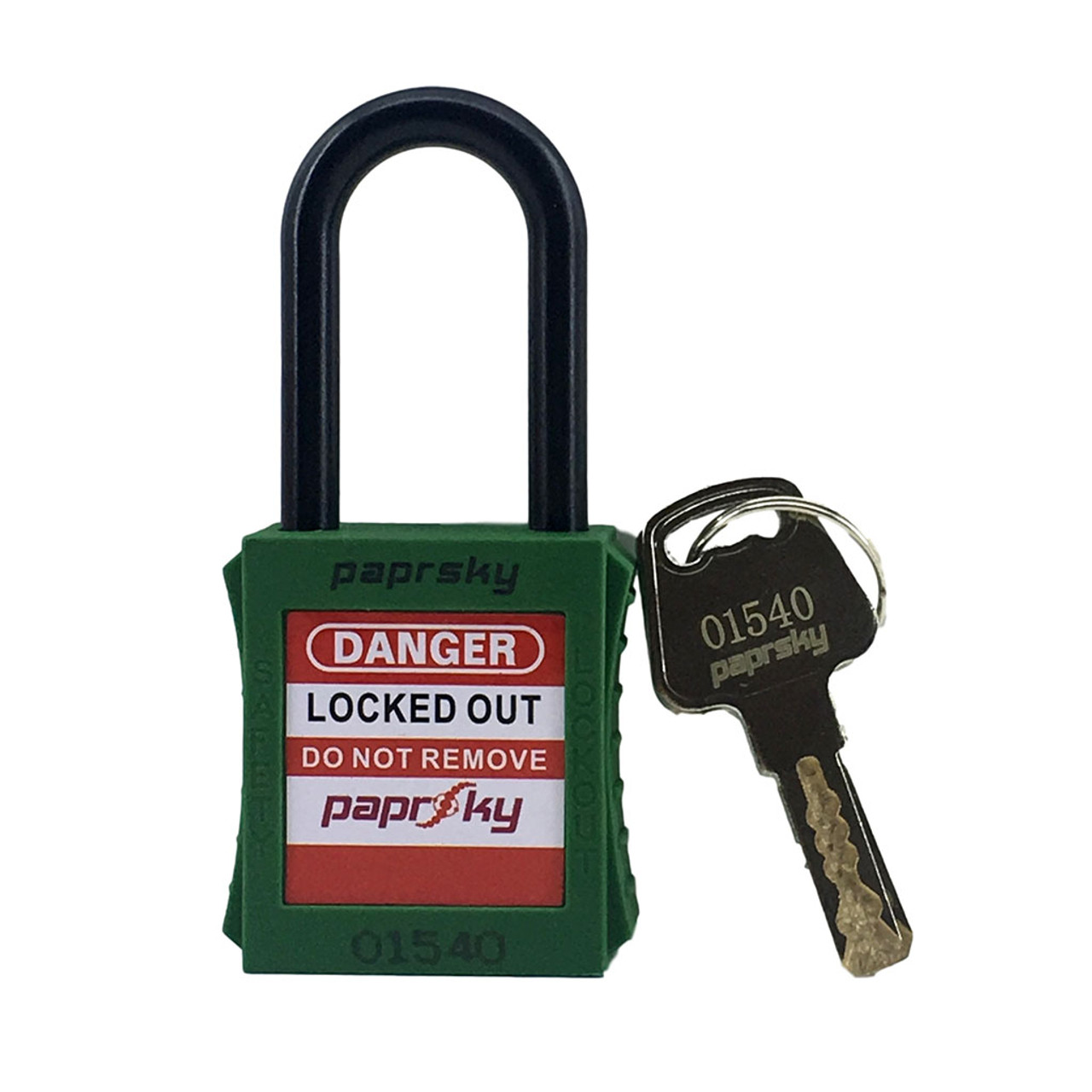Lockout Padlock Green  regular Dielectric Nylon shackle PS-LOTO-PPNR-38