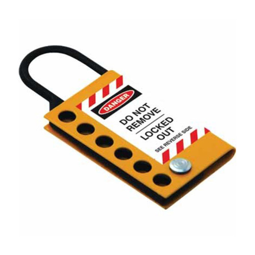 Stainless Steel Hasp - 25mm - YellowBlack PS-LOTO-HASP-SYB25