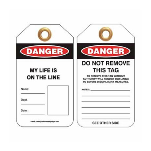 Lockout Tag Danger My Life Is On The Line