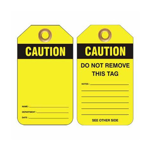 Lockout Tag Caution Blank