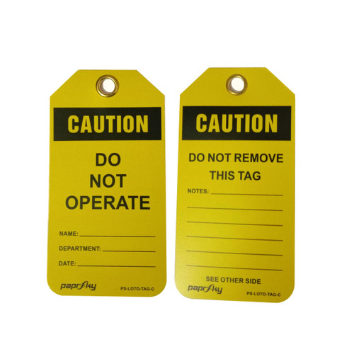 Lockout Tag Caution Do Not Operate PS-LOTO-TAG-C