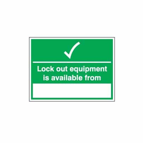 Lockout Wall Sign Lock Out Equipment Is Available From