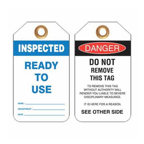 Lockout Tag Inspected Ready To Use