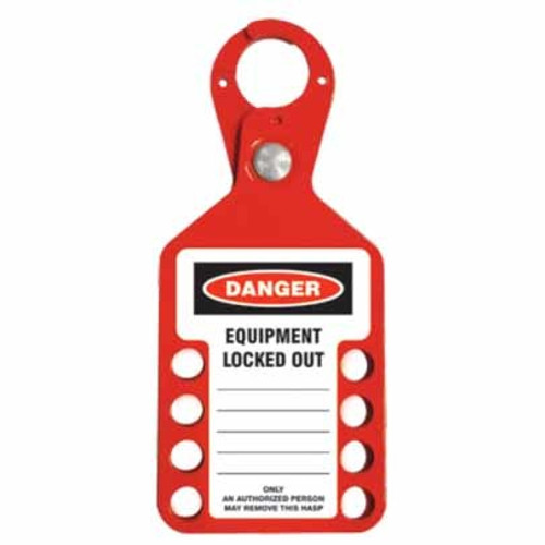 Tago Hasp - 2 in 1 - Red - 8 Hole