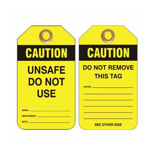 Lockout Tag Caution Unsafe Do Not Use
