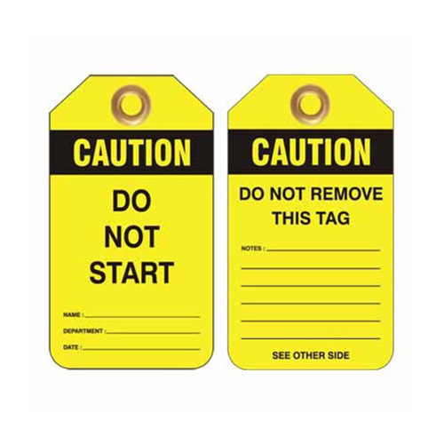Lockout Tag Caution Do Not Start