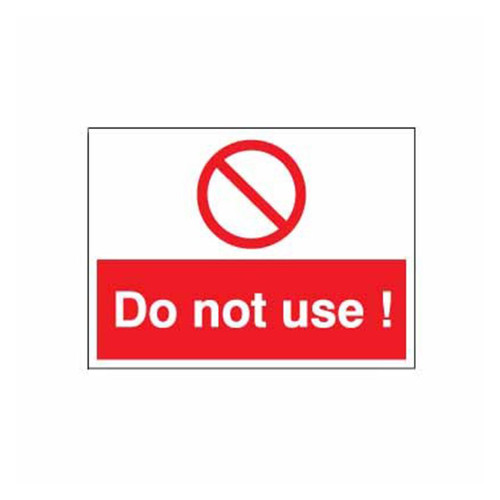 Safety Lockout Labels Do Not Use