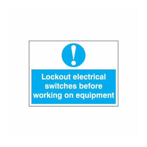 Safety Lockout Labels Lockout Electrical Switches Before Working On Equipment