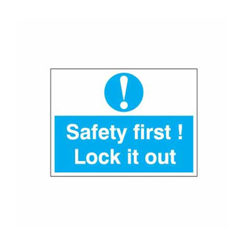 Safety Lockout Labels Safety First! Lock It Out
