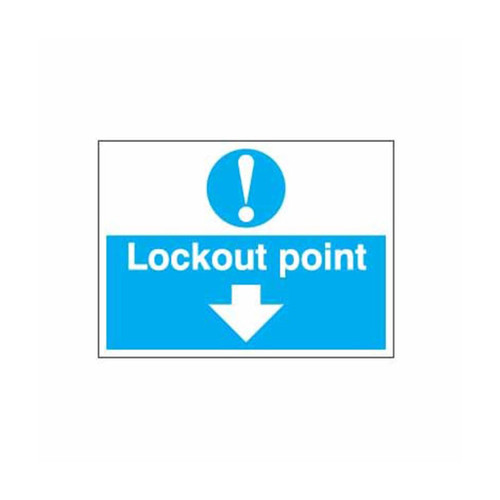 Safety Lockout Labels Lockout Point Down Arrow