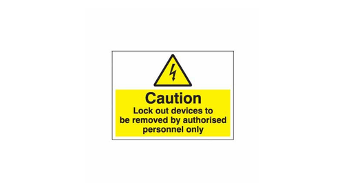 Safety Lockout Labels Caution