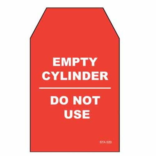 Lockout Tags Tear Proof Single Sided TDT256TP - Empty Cylinder Do Not Use