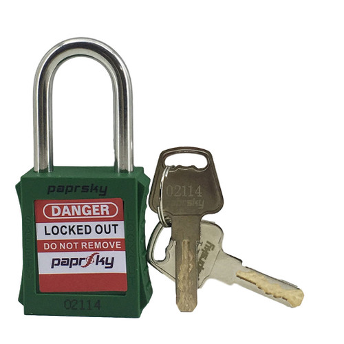 Lockout Padlock Green locks PS-LOTO-PPR-38