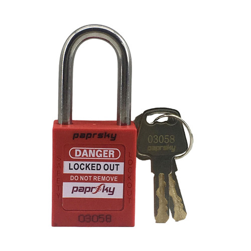 Lockout Padlock Red locks PS-LOTO-PPR-38