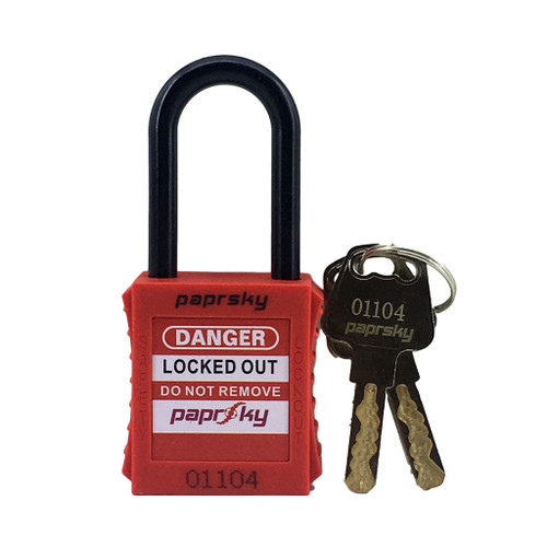 Dielectric Padlock Red locks PS-LOTO-PPNR-38 regular plastic