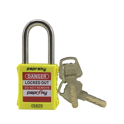 Lockout Padlock Yellow locks PS-LOTO-PPR-38