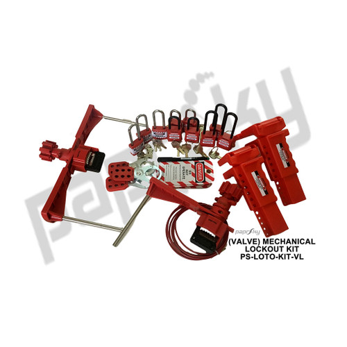 Mechanical Valve Lockout Kit PS-LOTO-KIT-VL