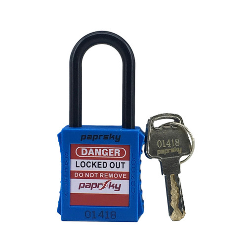 Lockout Padlock Blue  regular nylon shackle PS-LOTO-PPNR-38