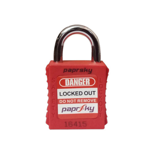 Lockout Padlock Red PS-LOTO-PPR-20 short steel shackle