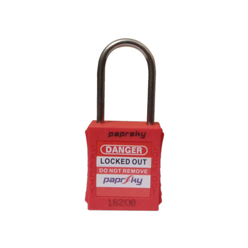 Lockout Padlock Red PS-LOTO-PPRT-38 regular steel shackle