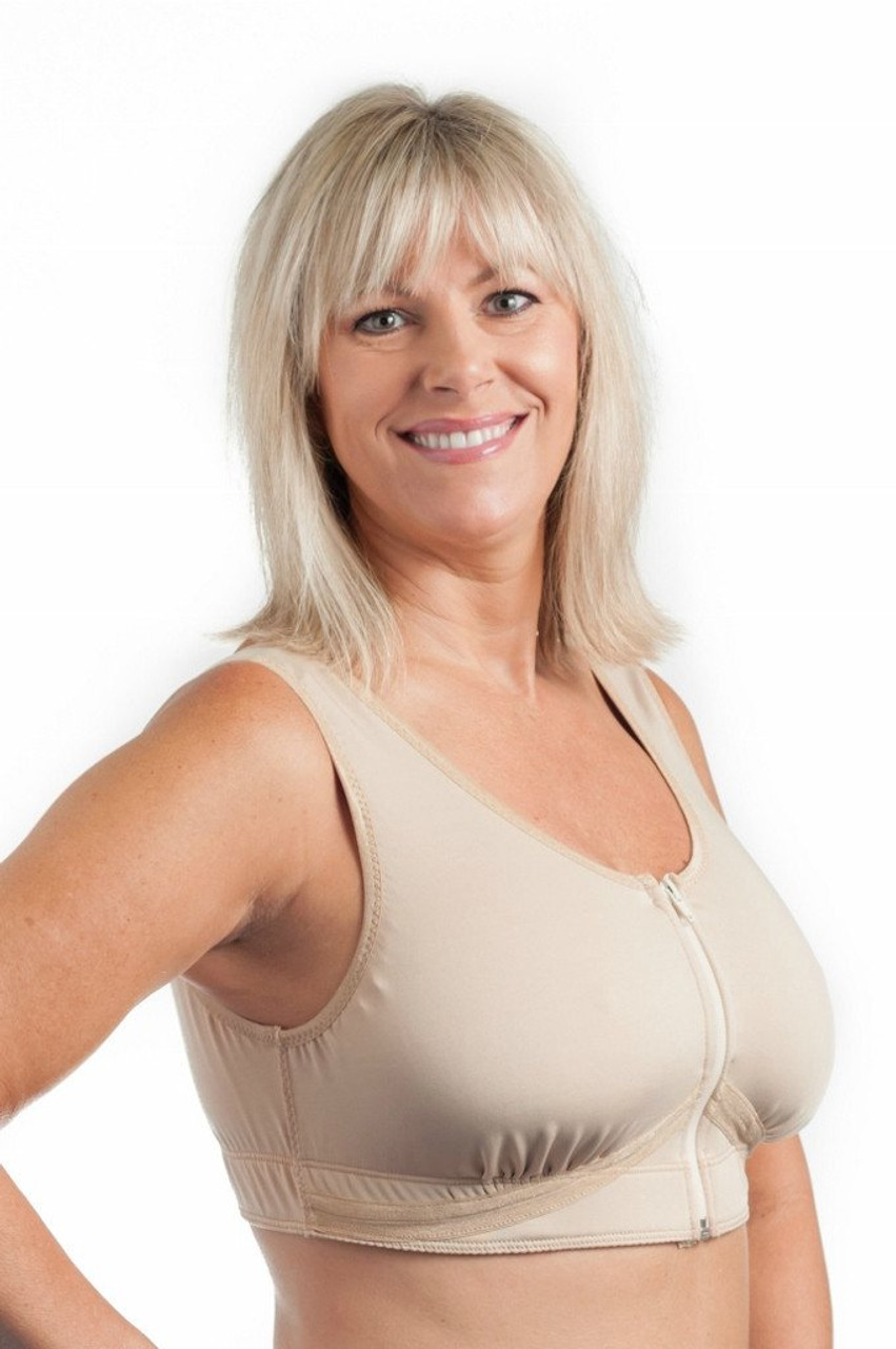 7ee950385b Grace Post-Surgical Bra by Wear Ease® - Front Zip - MastectomyShop.com