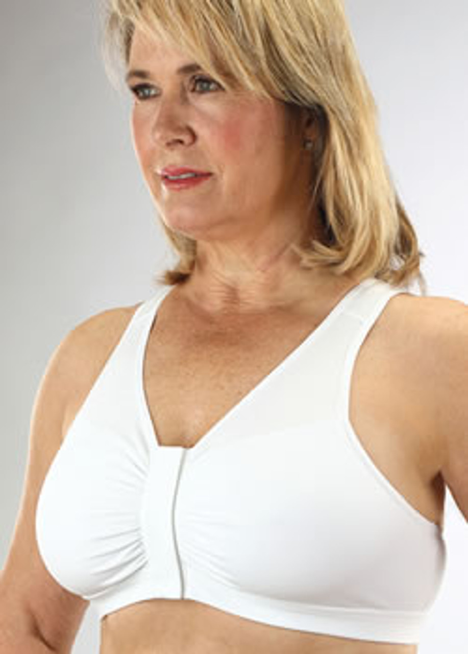 front clasp sports bra