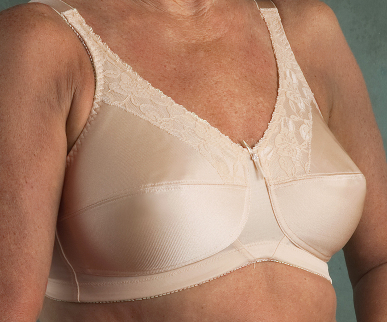 cba3eaf6a96bb Nearly Me 600 Lace Bandeau Mastectomy Bra - MastectomyShop.com