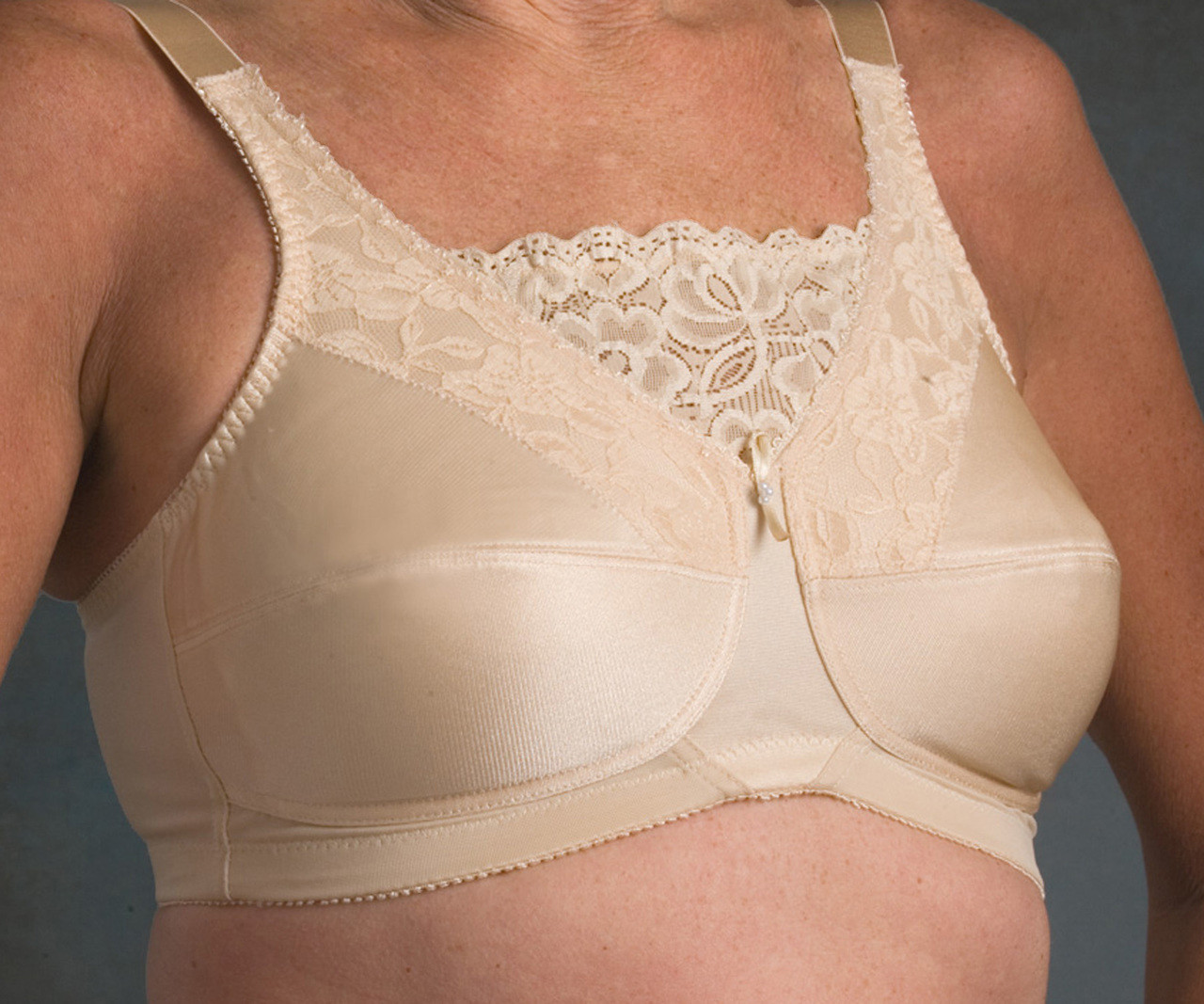 6aefec93c2563 Nearly Me 660 Lace Cami Mastectomy Bra - MastectomyShop.com