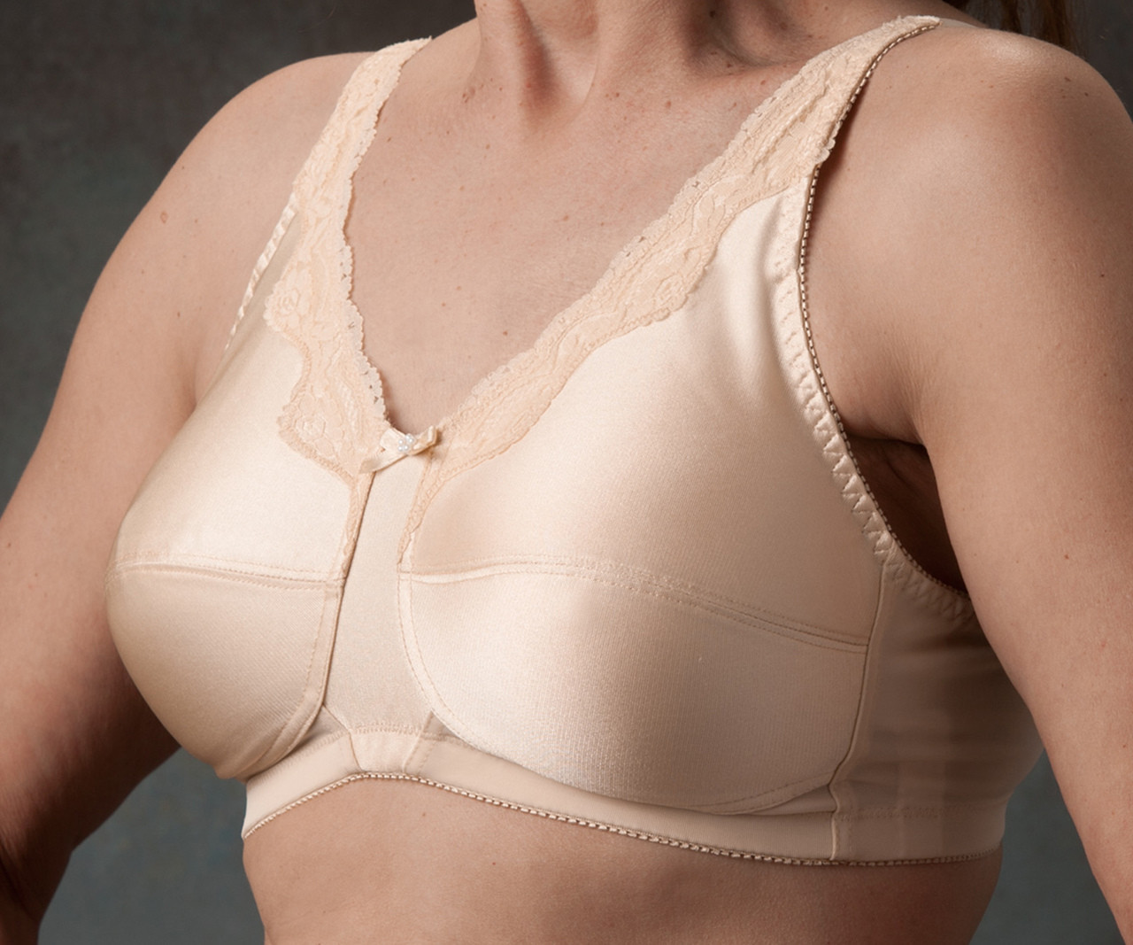 dde06c845a4ca Nearly Me 680 Lace Accent Mastectomy Bra - MastectomyShop.com
